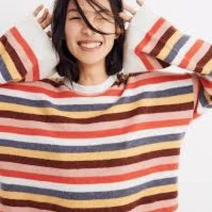 Madewell NWT Stripe Pullover Sweater S